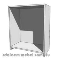напольный короб с опорой на боковые стенки
