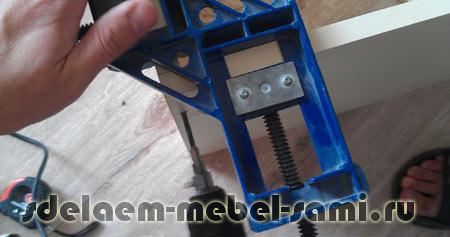установка евровинта с угловой струбциной