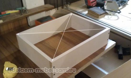 проверка геометрии ящика